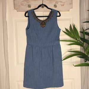 Ellen Tracy Beaded Boho Cocktail Dress Size 12